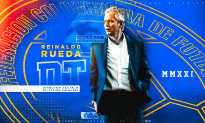 Con esta imagen fue presentado Reinaldo Rueda como DT de la selección Colombia, a través de las redes sociales de la FCF.