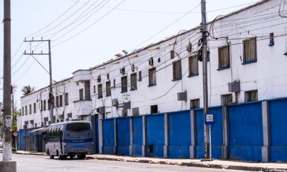 Fachada de la Cárcel La Modelo de Barranquilla.