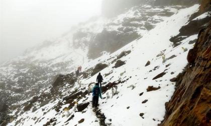 Una atípica nevada tiñe de blanco un Parque Nacional Natural El Cocuy
