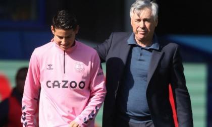 Ranieri alaba la conexión entre James Rodríguez y Carlo Ancelotti