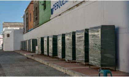 Aspecto de como luce 'callejón de las frutas y verduras' recuperado por la Alcaldía de Barranquilla.