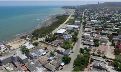Panorámica de las playas del municipio de Puerto Colombia.