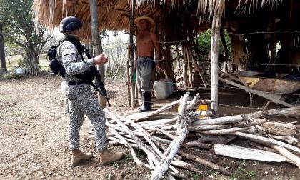 Fuerzas militares en el corregimiento de El Salado.