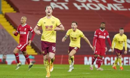 El Burnley derriba al Liverpool en el Anfield