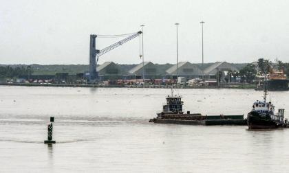 Aspecto del canal de acceso al Puerto de B/quilla.