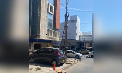 Primeras capturas por manipulación de redes eléctricas en la calle Murillo