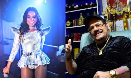 Aníbal Velásquez, 'el rey de la guaracha' y Susan Díaz, cantante de guaracha electrónica.