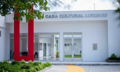 Fachada de la Casa de la Cultura en Luruaco.