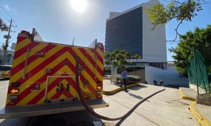 Conato de incendio en sótano de un edificio en el norte de Barranquilla