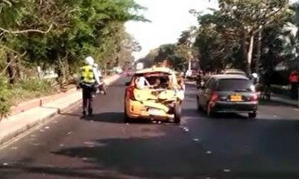 Fuerte accidente de tránsito en la Vía Oriental