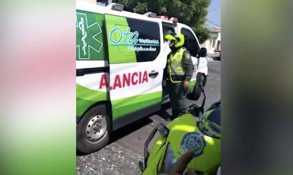 Momento del incidente registrado en video.
