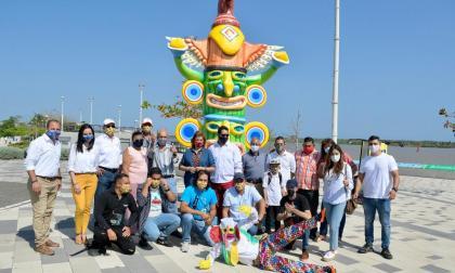 Lanzamiento de la exhibición de macrofiguras en el Malecón