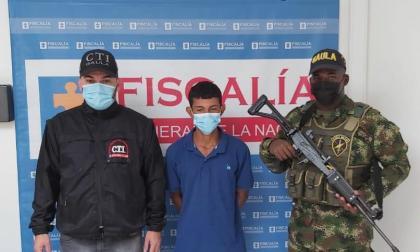 Luis Felipe Victoria Arenas, capturado por el homicidio de la mujer embarazada.