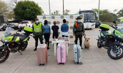 Capturan a tres en Córdoba con 4 mil gramos de marihuana