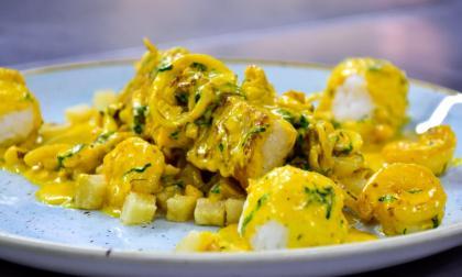 Pescado al ají amarillo, una mezcla de sabores caribeños