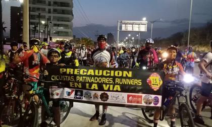 Ciclistas recreativos protestan por más seguridad en las vías del Atlántico