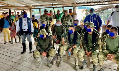 Liberados 9 militares retenidos por indígenas en Chocó