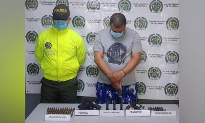 Capturan a alias la Momia con armas de fuego y municiones