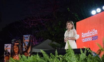 Alcaldesa de Santa Marta rindió cuentas de su gestión en 2020