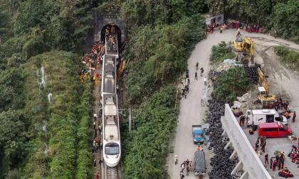Un accidente de tren en Taiwán deja al menos 51 muertos y decenas de heridos