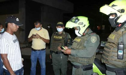 Policía interviene covid-fiesta en el sur de Montería