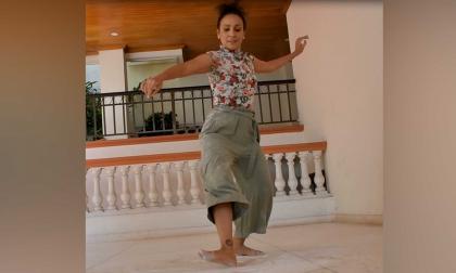 Notas de vallenato a ritmo de danza contemporánea