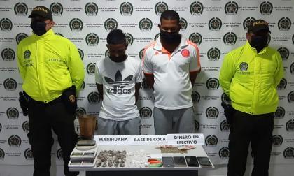Policía captura a tres señalados de microtráfico en Bolívar