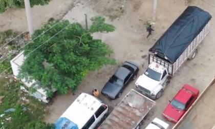 Con drones, Policía captura a dos presuntos delincuentes