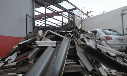 Casas destechadas por tornado en Barranquilla