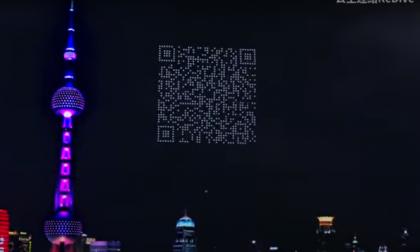 1.500 drones crearon un gigantesco código QR en el cielo de Shanghái