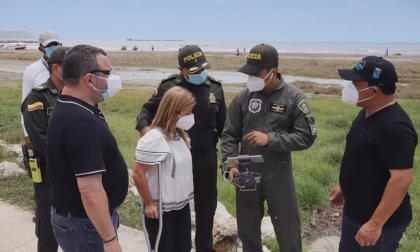 Gobernadora Noguera recorrió municipios verificando cumplimiento de toque de queda