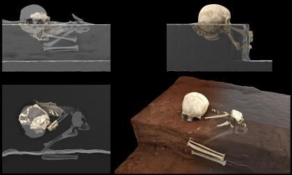 Niño de tres años es el entierro más antiguo de África