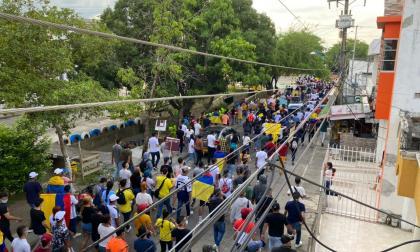 Jornada de protesta y expresiones culturales en Montería