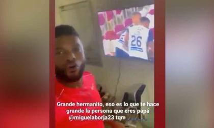 Así celebró emocionado Borja el gol de Carmelo