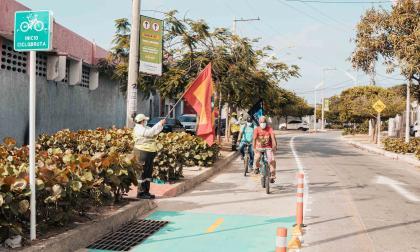Barranquilla tiene 6 kilómetros nuevos de ciclorrutas