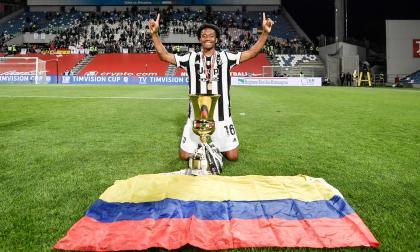 Juan Guillermo Cuadrado, campeón de la Copa de Italia con la Juventus