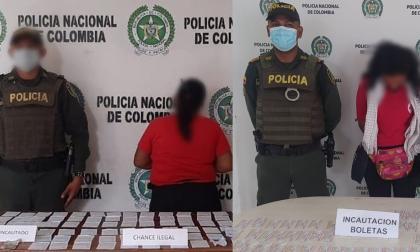 Capturan a dos mujeres por vender chance ilegal en Córdoba