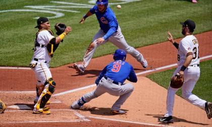La jugada de Javier Báez y Will Craig en el Pirates vs. Cubs