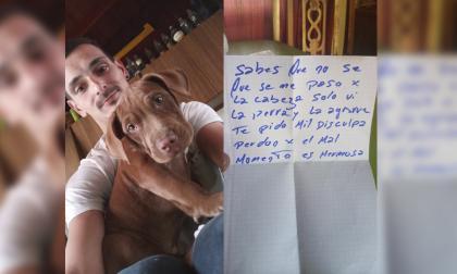 """Se robó una perra, se arrepintió y la devolvió con una nota: """"Perdón, es hermosa"""""""