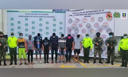 Capturan a 13 de la banda delincuencial 'los Chamos'