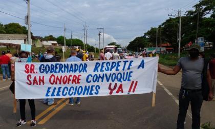 Bloquean el paso entre Sucre y Bolívar por la Transversal del Caribe