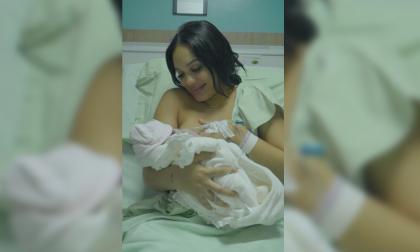 Andrea Valdiri le dio la bienvenida a su segunda hija, Adhara