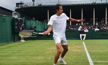 Galán consiguió su primer triunfo en Wimbledon