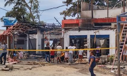 Incendio arrasó con tres edificaciones en las Cabañas de Buritaca