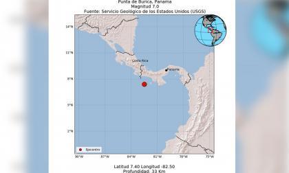 Reportan sismo de 7.0 grados en la costa de Panamá