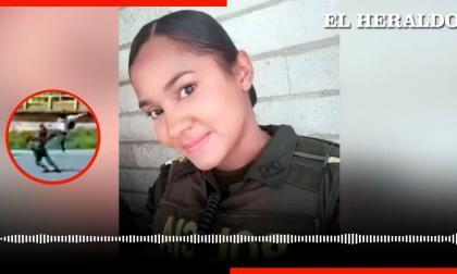 Habla la patrullera de la Policía agredida con una 'patada voladora' en Medellín