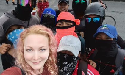 Alemana manifestante denuncia intento de asesinato en Cali