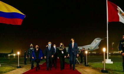 Presidente Duque está en Perú para asistir a la posesión de Pedro Castillo