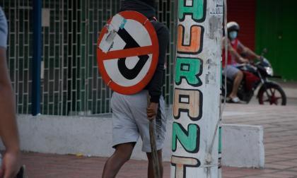 Los daños que dejó la manifestación de este miércoles en Barranquilla