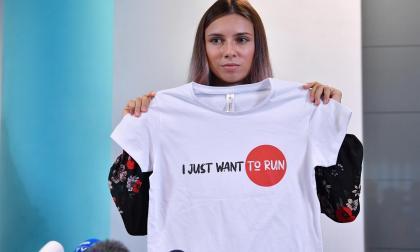 Krystsina Tsimanouskaya subasta una medalla para ayudar a otros deportistas disidentes